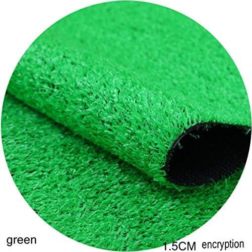 YNFNGXU 2×1メートル合成人工芝15ミリメートル高パイル屋外ガーデン暗号化プラスチック偽の芝生、グリーン (Size : 2x6m)