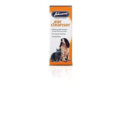 Johnsons - Limpiador de oídos para Perros y Gatos: Amazon.es ...