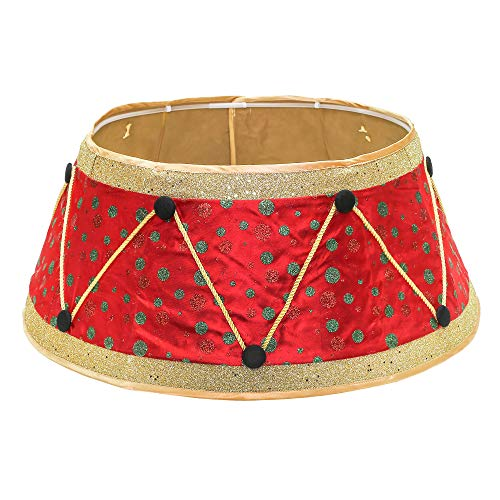New Traditions - Stand Band Tree Collar Satin - Red/Green