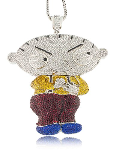 Iced out silver family guy stewie xl pendant w 30 36 franco save aloadofball Choice Image