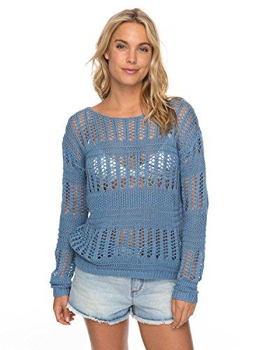 col Rond ERJSW03241 Bleu Blush Shadow Blue Femme Seaview Roxy Pull 6qYxawtII