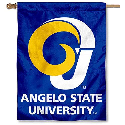 Angelo State Rams Banner House Flag by College Flags and Banners Co.
