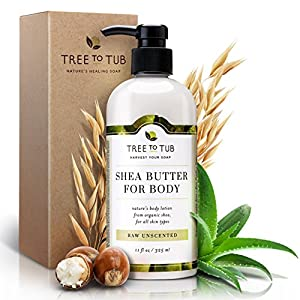 Real, Organic Dry Skin Lotion [Hypoallergenic]. The Only pH 5.5 Balanced Unscented Lotion For Seborrheic Dermatitis – Women And Mens Lotion With Eco-Friendly Wild Soapberries, And Shea Moisture