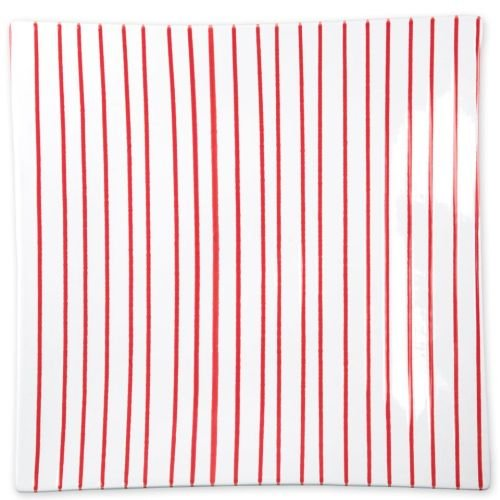 Vietri Stripe Red Square Platter