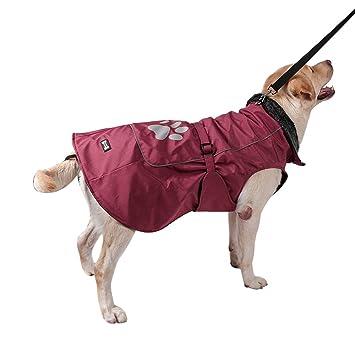 Bwiv Chaqueta Impermeable Abrigo Perros Grandes Ropa Mascotas Cachorros Chupasquero para Perro Resistente al Agua Gruesa Caliente con Reflectantes Otoño y ...