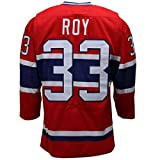 Men's Montreal Canadiens Patrick Roy #33 Mitchell & Ness Red Throwback Vintage Jersey Size XXL