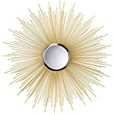 Koehler Home Decor Golden Rays Sunburst Mirror