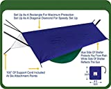 Hammock Bliss All Purpose Waterproof Shelter - Waterproof Tent Tarp, Rain Fly and Hammock Shelter To Cover Your Hammock and Your Gear – Make Hammock Camping A Rain Free and Dry Experience