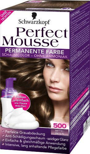 Mousse Perfect - Schwarzkopf Perfect Mousse permanent hair color 500 Middle Brown by Schwarzkopf