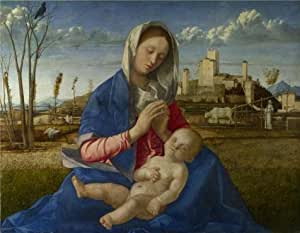 The Perfect effect Canvas of oil painting 'Giovanni Bellini-Madonna of the Meadow,1500' ,size: 18x23 inch / 46x59 cm ,this High Definition Art Decorative Canvas Prints is fit for Bar decor and Home artwork and Gifts