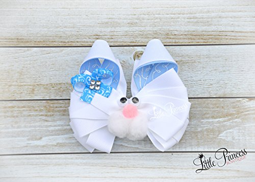 Bunny Hairbow, Rabbit Hairbow, Easter Hairbows by Little Princess Bowtique