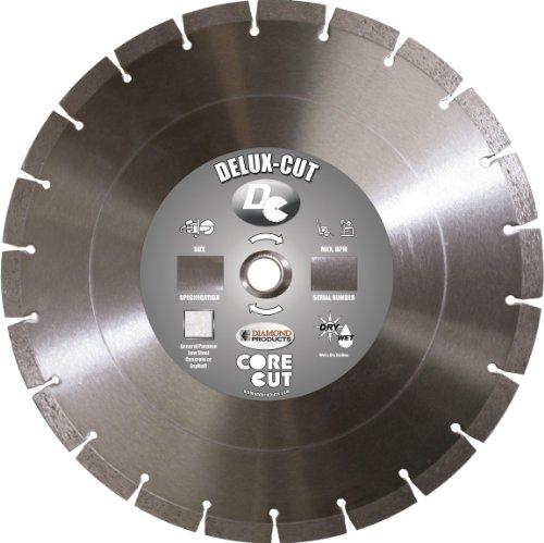 Diamond Products Core Cut Diamond Product 50537 Delux-Cut Segmented High Speed Diamond Blade 14-inch x .125 x 1-inch