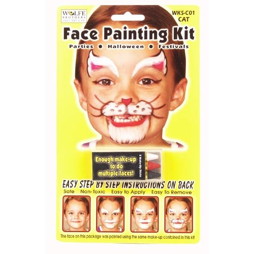 [Cat Face Painting Kit] (Halloween Cat Costume Face Makeup)