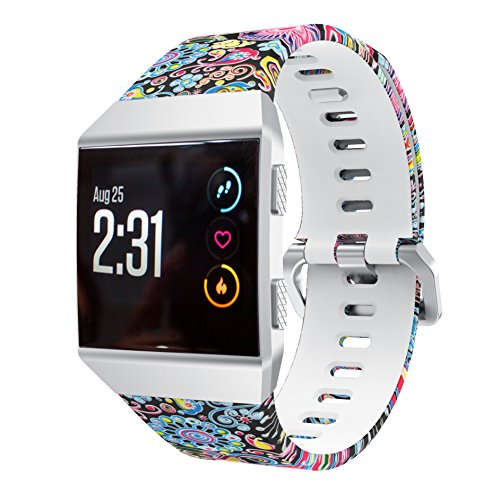 KisFace Fitbit Ionic Replacement Elastomer Bands, Fitbit Accessories Wristbands Small Large Photo Printing Series with Various Photo Topics(Opera - Ionic Mask
