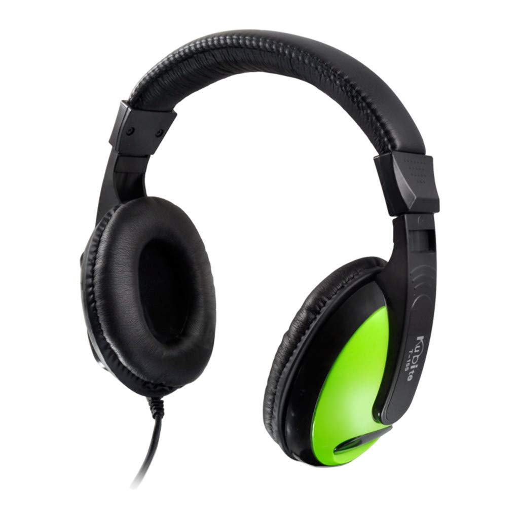 Sonmer Kubite T155 3.5mm Wired Noise Cancelling Stereo Foldable Over Ear Gaming Headphone With Mic,for MP3/MP4 iPhone Android Smartphone Tablet PC (Green)