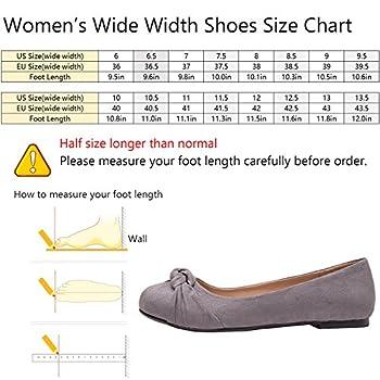 Women's Wide Width Flat Shoes - Comfortable Slip On Round Toe Ballet Flats. (Mc Grey 180303,8.5ww) 1