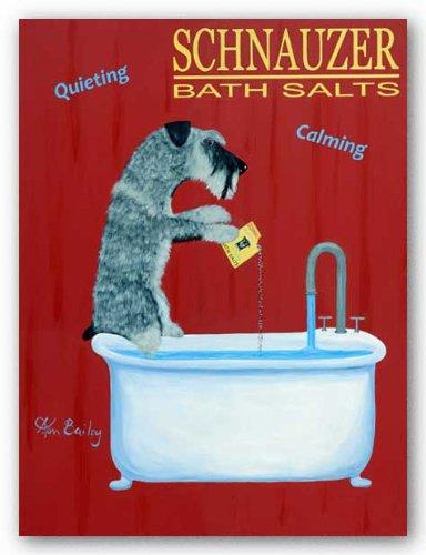 Schnauzer Bath Salts by Ken Bailey Art Print Poster by Grand Image