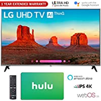 LG 65 Class 4K HDR Smart LED AI UHD TV w/ThinQ 2018 Model (65UK7700PUD) with Hulu $50 Gift Card & 1 Year Extended Warranty
