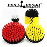 Drillbrush Scrub Brush Drill Attachment Kit - Drill Powered Cleaning Brush Attachments - Time Saving Cleaning Kit - Great for Cleaning Pool Tile, Flooring, Brick, Ceramic, Marble, Grout, and Much More
