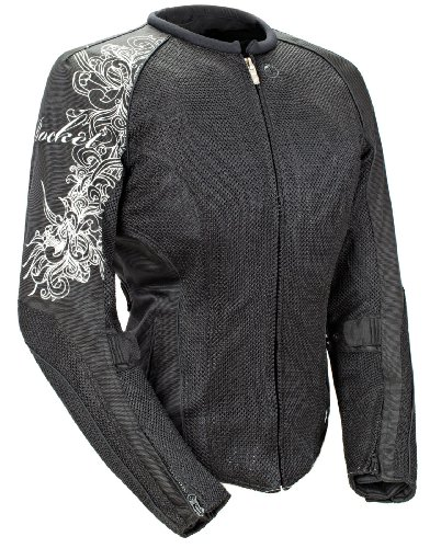 (Joe Rocket Cleo 2.2 Women's Mesh Motorcycle Riding Jacket (Black/Black,)