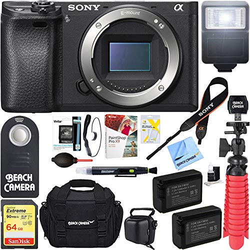 51vgJk2rOYL - Sony a6300 4K Mirrorless Camera Body w/APS-C Sensor (Black) ILCE-6300/B and Case 64GB SDXC Memory Card Pro Photography Bundle (Camera Body Bundle, Black)