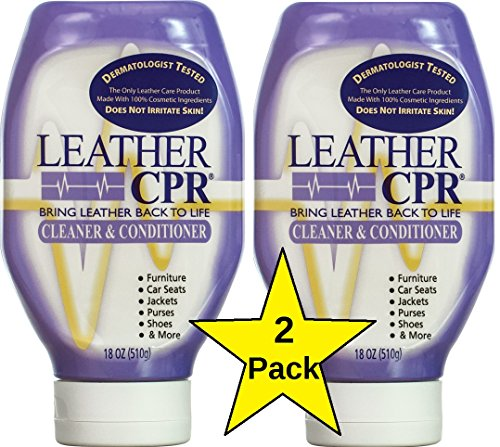 Leather CPR Cleaner & Conditioner, 18 oz - 2 Pack, Best Leather Cleaner & Conditioner Available. Only Leather Cleaner & Conditioner that is Dermatologist Tested. Made in USA.