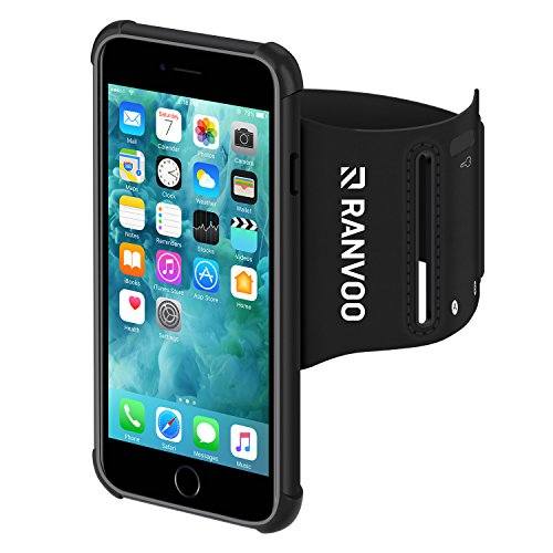 iPhone 8 Armband, iPhone 7 Armband RANVOO Water Resistant Jogging Running Sports Exercise Mobile Armband Case for iPhone 7/8, 4.7Inch, Black