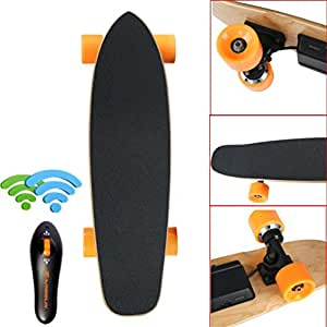 AutumnFall® 7 Inch Electric Longboard Skateboard with Wireless Controller LG Battery