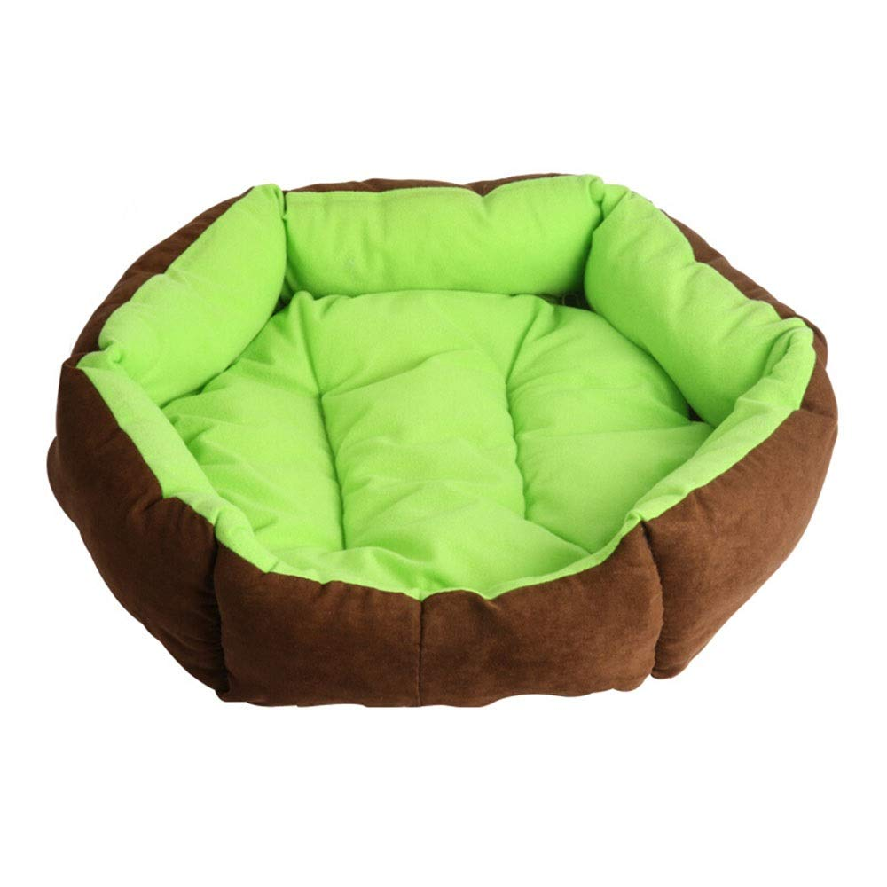 C Xiao Jian Pet Nest  Cat Litter Kennel Teddy VIP Hex Dog Nest Removable and Washable Fall Winter Mat Cat Litter Pet Supplies pet Bed (color   D)
