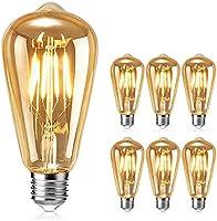 Ampoule Edison , otutun Ampoule LED Vintage Lampe Décorative E27 4W Rétro Filament Ampoule Antique Blanc Chaud pour...