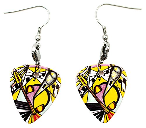 Art of Music 2 Sided Guitar Pick Earrings