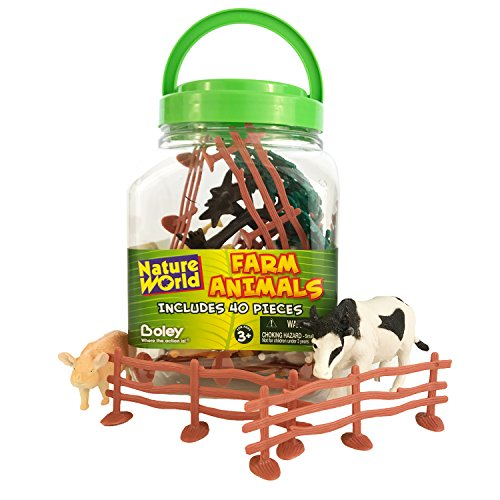 Boley Small Bucket Farm Animal Toys - 40
