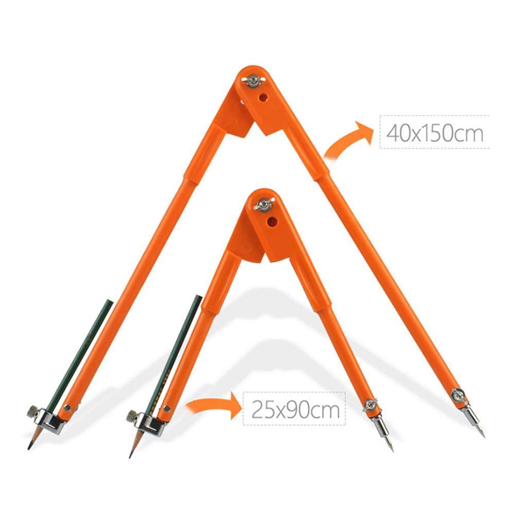 Grande Orange Compasso a Matita Square Leg Divider per Falegname Precision Divider Caliper Chirsemey Bussola di Lunga Durata con Grande Diametro per la Lavorazione del Legno