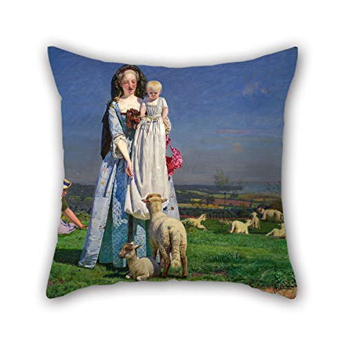 Child Derek The Dinosaur Costumes (Slimmingpiggy Oil Painting Ford Madox Brown - Pretty Baa-Lambs Throw Pillow Case 16 X 16 Inches / 40 By 40 Cm Best Choice For Birthday,father,bedroom,gf,teens Girls,office With Each Side)