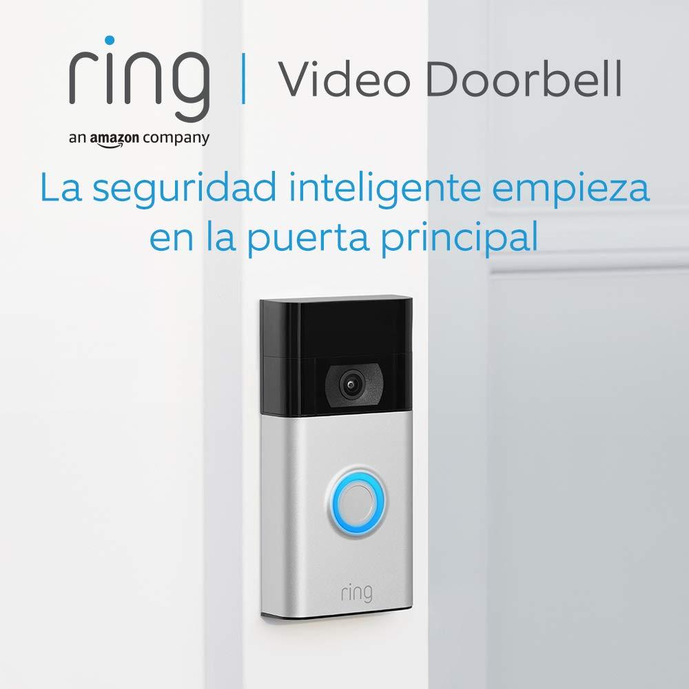 Nuevo Ring Video Doorbell | Vídeo HD 1080p, detección de movimiento avanzada e instalación fácil (2. Gen) | Incluye una prueba de 30 días gratis del plan Ring Protect