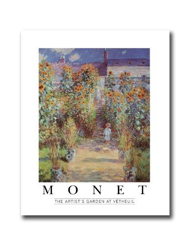 Claude Monet Artist Garden At Vetheuil Wall Picture 8x10 Art Print