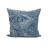 Vintage Chinese Indigo Batik Pillow | HARRIS 22x22