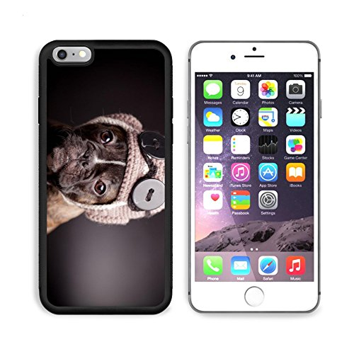 - MSD Premium Apple iPhone 6/6S Plus Aluminum Backplate Bumper Snap Case IMAGE 29870726 French bulldog puppy in knit pilot helmet