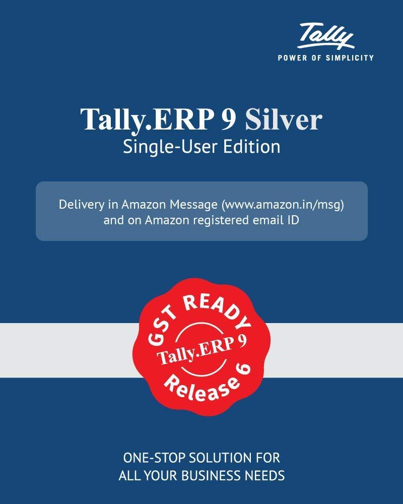 Tally Erp9 Silver Single User Amazon In Software