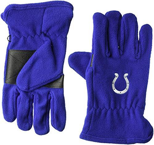 (OTS NFL Indianapolis Colts Male Fleece Gloves, Royal, Men's)