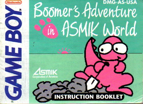 boomers-adventure-in-asmik-world-gb-instruction-booklet-nintendo-gameboy-manual-only-no-game-pamphle