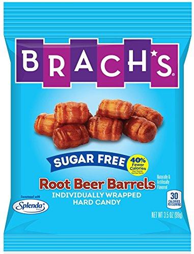 Brachs Sugar Free Root Beer Barrels Hard Candy, 3.51 oz