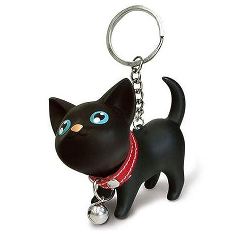 Llavero colgante de Namgiy para colgar adornos, decoración, manualidades, regalo para mujer, teléfono, bolso de mano, coche, gato, negro