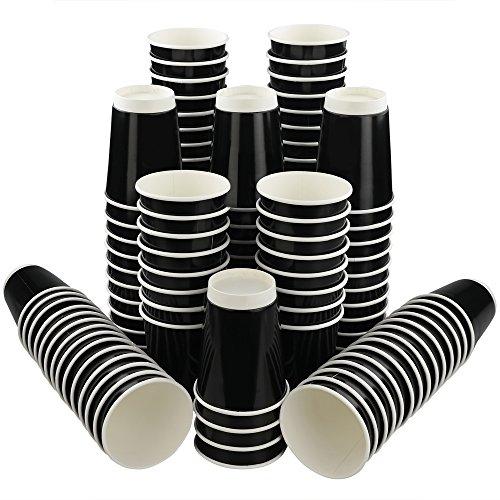 Nicesh 12 OZ Black Paper Coffee Cup, 150 -