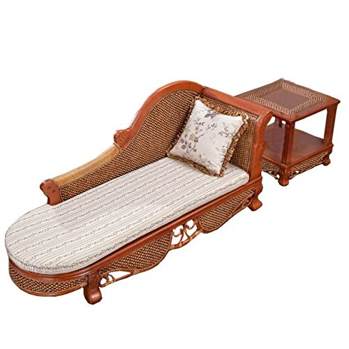 Natural bamboo - rattan wicker chaise lounge chair set/ longuer / recliner / reclining chair suite / seat / settee / seater / couch / chair / coffee table / tea table / teapoy / side table / end table Bamboo Reclining Recliner