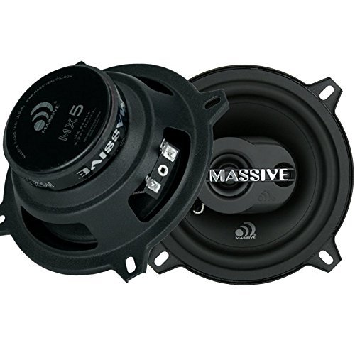 Massive Audio MX5 MX Series Coaxial Speakers. 80 Watts, 4 Ohm, 40w RMS Heavy Duty 5 Inch Coaxial Audio Speakers. Enjoy Crystal Clear Sound with These Great Coaxial Speaker System (Sold in Pairs)