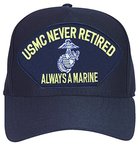 MilitaryBest USMC Always a Marine Never Retired with Eagle Globe and Anchor Marine Corps Ball Cap