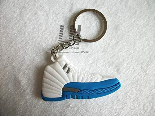 Mct12 - Mini Silicone Jordan 12 Keychain Bag Charm Woman Men Kids Key Ring  Gifts Sneaker Key Holder Pendant Accessories Shoes Key Chain - - Amazon.com 161bdba5349c