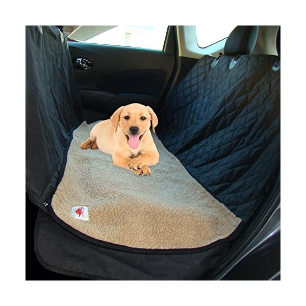 Ultimate Pet Seat Cover And Dog Hammock Features Washable Fleece Mat, Mesh Window And Metal Buckles   5 Piece Set