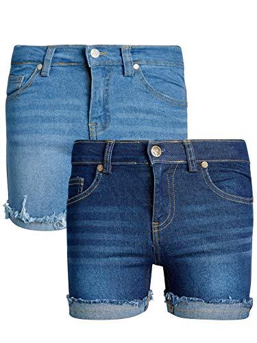 Real Love Girls Stretch Denim Shorts (2 Pack), Ripped Cuff, Size 16'
